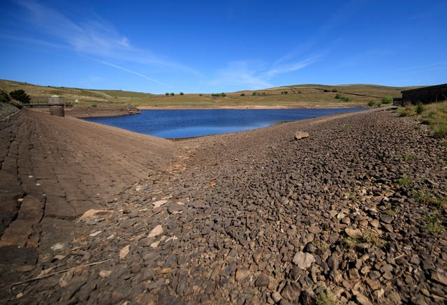 The effects of a dry May can be seen with reservoir levels (Danny Lawson/PA)