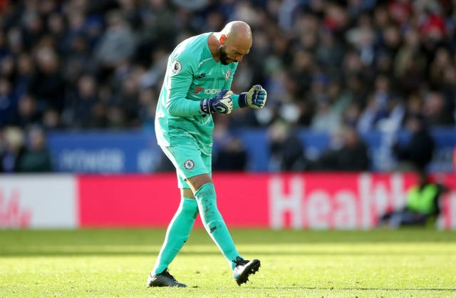 Willy Caballero started for Chelsea at Leicester