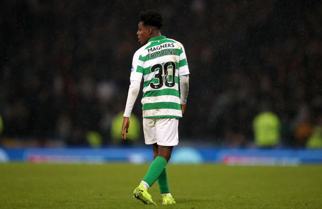Jeremie Frimpong was sent off at Hampden