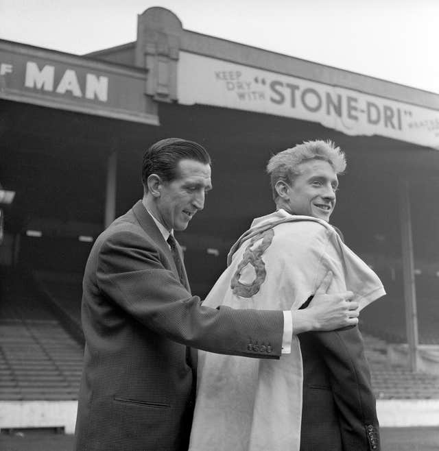 Ken Barnes (left) and Denis Law