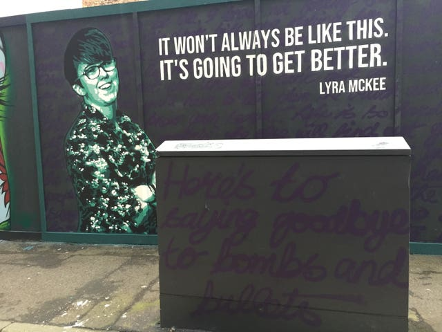 A mural of Lyra McKee in Belfast city centre