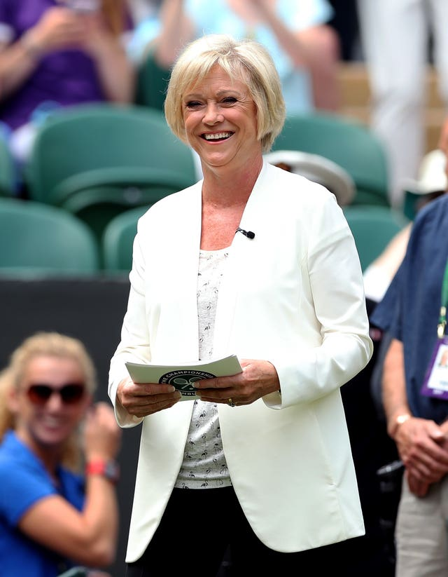 There was a mix-up involving Sue Barker