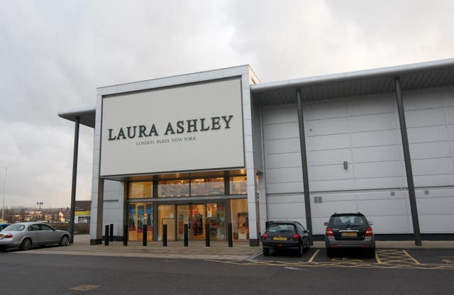 Laura Ashley store in the Brunel Retail Park in Reading