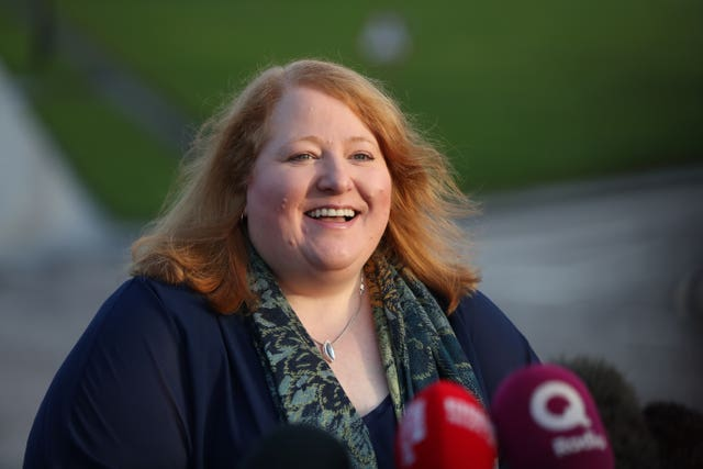 Alliance Party leader Naomi Long at Stormont