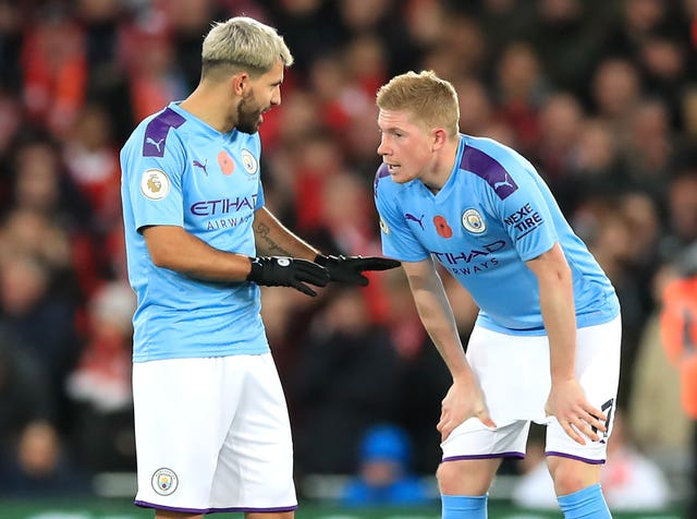 Sergio Aguero (left) and Keven De Bruyne (right) are among City's most prized assets