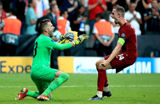 Jordan Henderson was full of praise for Adrian after his penalty shoot-out heroics