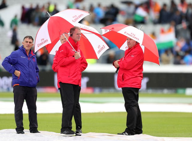 Rain has been a familiar sight at the World Cup (Martin Rickett/PA)