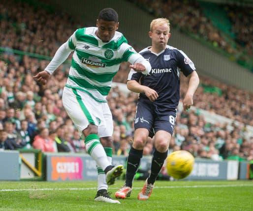 Saidy Janko, left, used to play for Celtic
