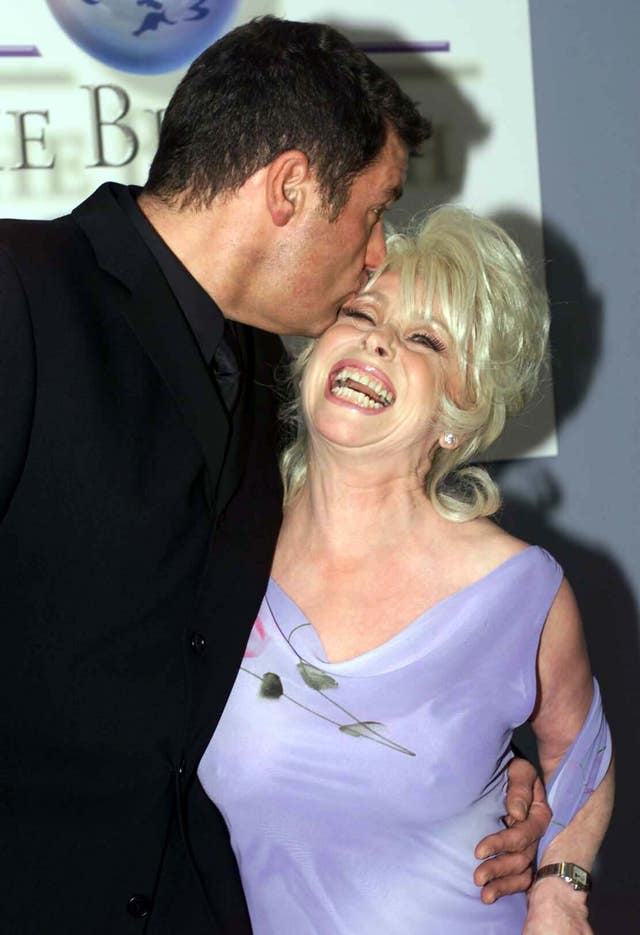 Having a laugh with Barbara Windsor (Toby Melville/PA)