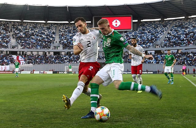James McClean was unable to help the Republic to victory in Tbilisi