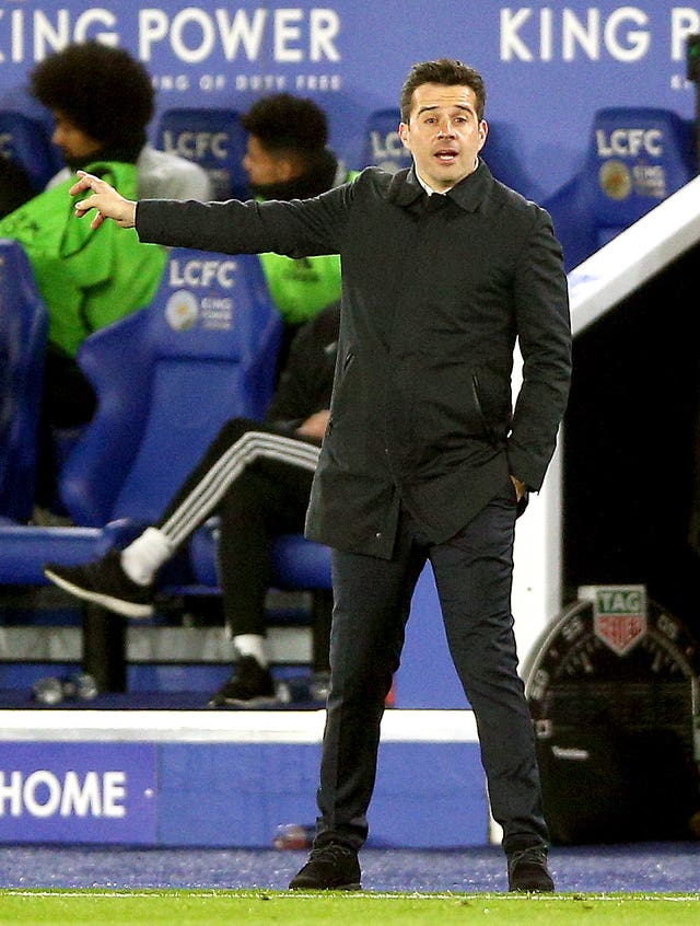 Marco Silva's Everton lost to Leicester