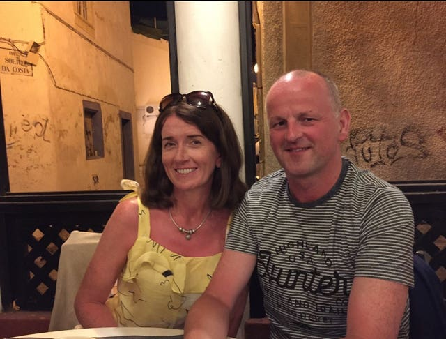 Sean Cox with wife Martina