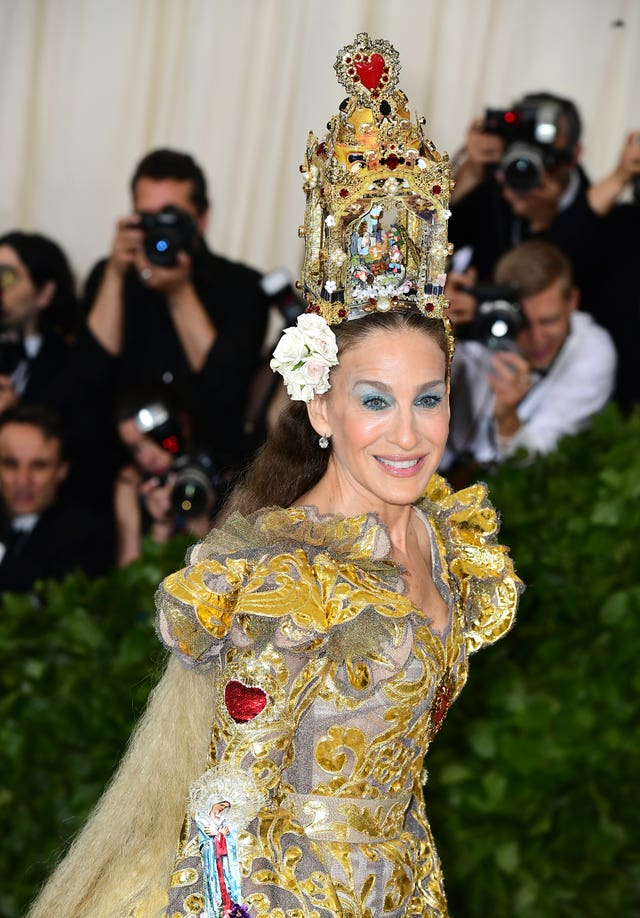Sarah Jessica Parker attending the Met Gala in New York (Ian West/PA Wire)