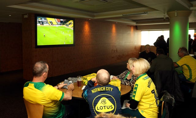 Fans can not watch games at the stadium - but can view them on television in hospitality areas