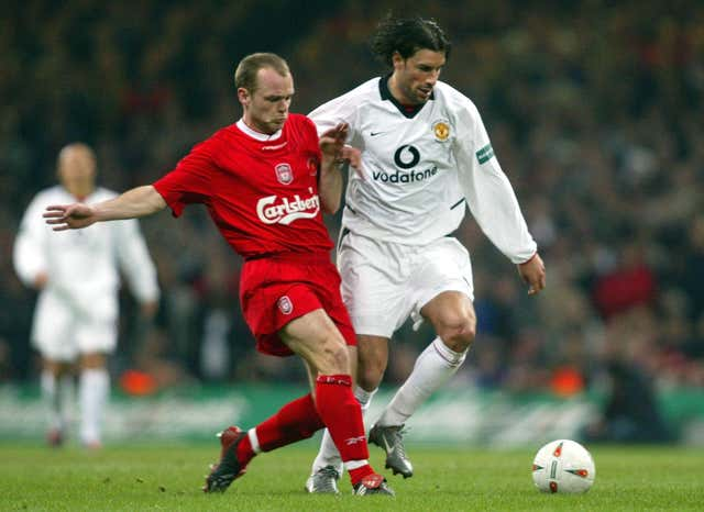 Danny Murphy, left, played for Liverpool between 1997 and 2004