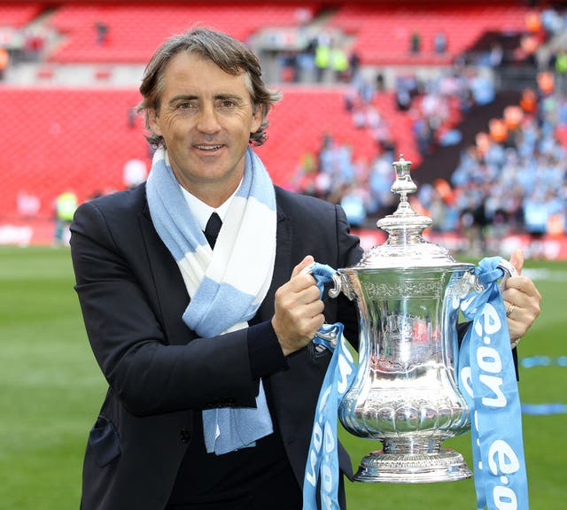 Mancini lifted the FA Cup with Manchester City in 2011