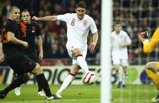 Gary Cahill pulled a goal back for England during the 3-2 loss at Wembley.