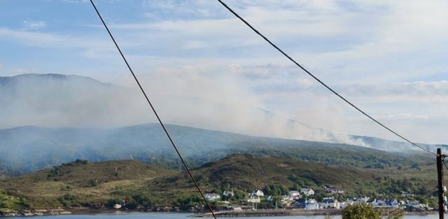 Wildfire on the Isle of Skye