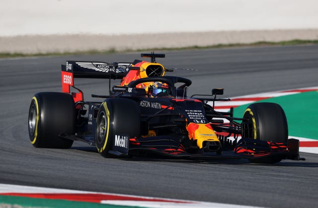 Alex Albon in action for Red Bull during pre-season testing (David Davies/PA)