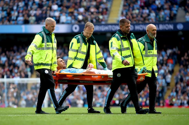 Aymeric Laporte left the field on a stretcher