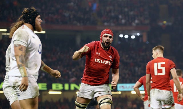 Cory Hill (centre) is in the Wales squad