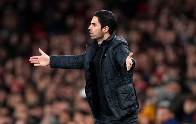 Mikel Arteta got a reaction from his side after the break