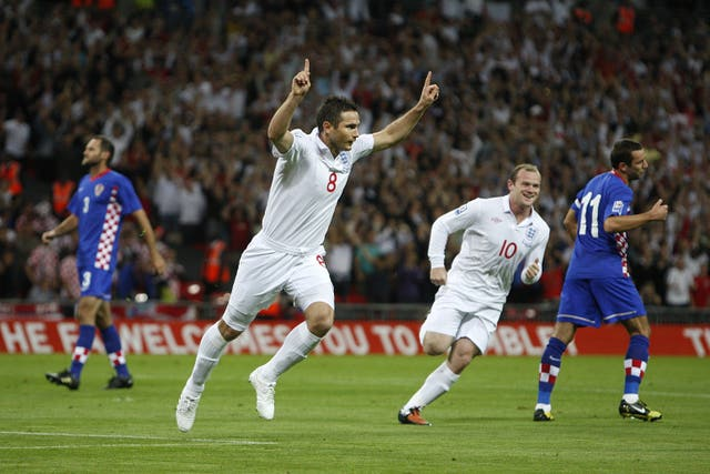 England went one better in the home meeting, thrashing Croatia 5-1 as Frank Lampard scored twice.