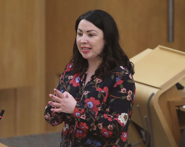Monica Lennon in Holyrood