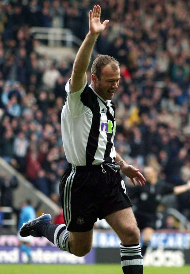 Newcastle's record goalscorer Alan Shearer makes a cameo appearance