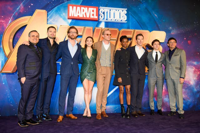 The cast of Avengers: Infinity War (Matt Crossick/PA)