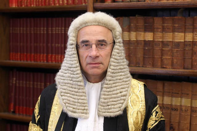 Sir Brian Leveson. who will hear a challenge against the release of John Worboys (Lewis Whyld/PA)