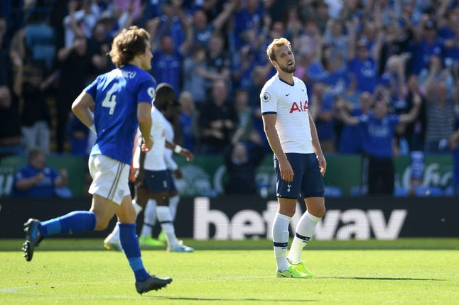 Harry Kane has often been starved of service when Spurs have had to break teams down