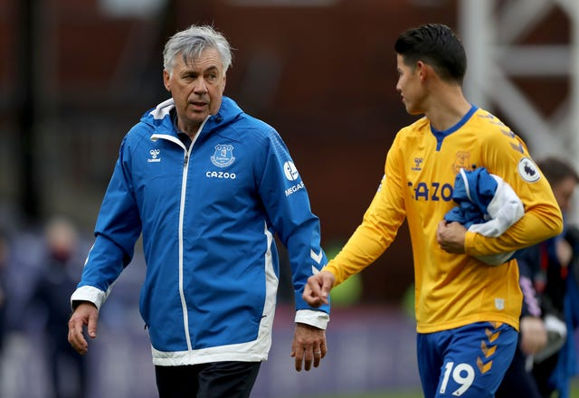 Carlo Ancelotti's latest reunion with James Rodriguez is working well for Everton