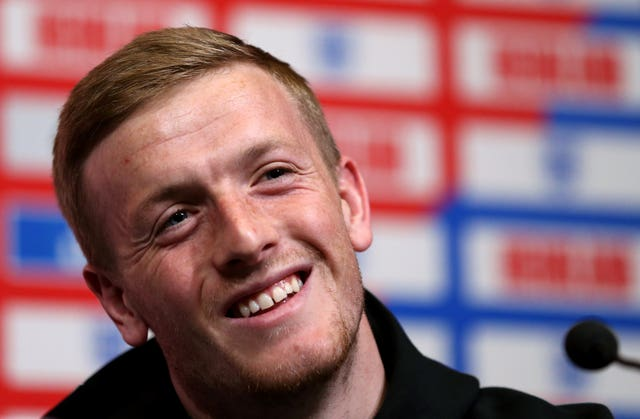 Pickford was in relaxed mood with the media