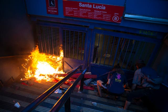 Chile Subway Protest