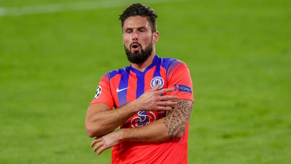 Olivier Giroud steals the show with four goals in Chelsea's hammering of Sevilla