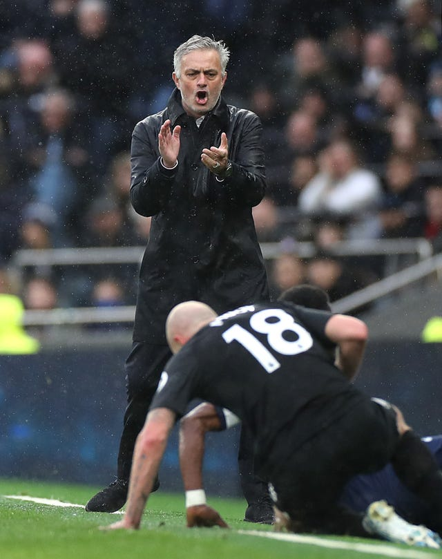 Mourinho was on the touchline for the match against Brighton