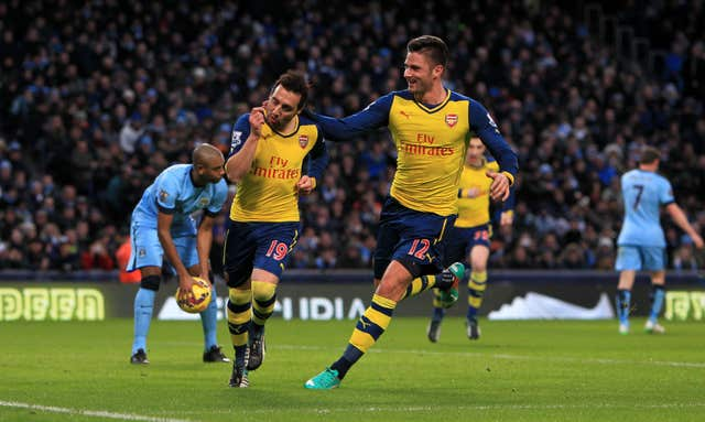 Santi Cazorla was superb as Arsenal won at the Etihad Stadium in 2015.
