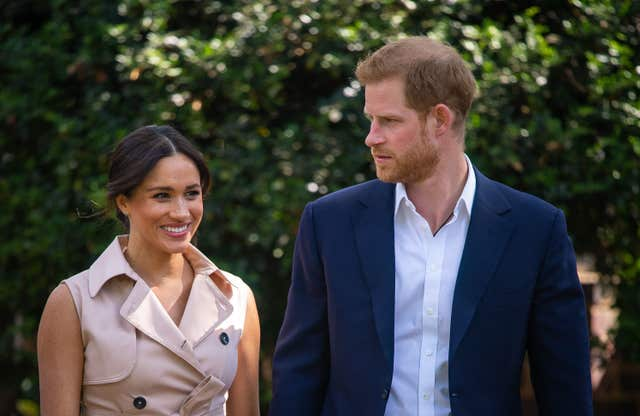 Harry and Meghan at the British High Commissioner's residence
