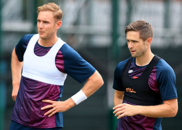 Stuart Broad (left) and Chris Woakes (right) are in line for recalls.