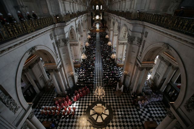 St Paul's Cathedral will play host to the memorial service (Daniel Leal-Olivas/PA)