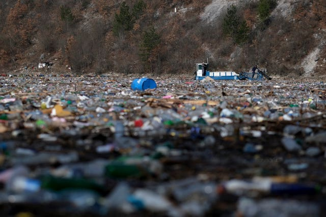 Bosnia river waste