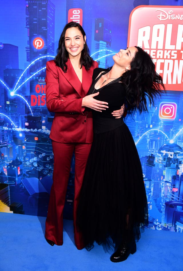 Gal Gadot (left) and Sarah Silverman attending the Ralph Breaks The Internet European premiere