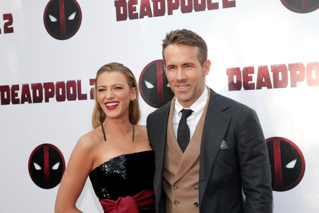 Ryan Reynolds and his wife Blake Lively were pictured at a special screening of Deadpool 2 in New York (Brent N. Clarke/Invision/AP)