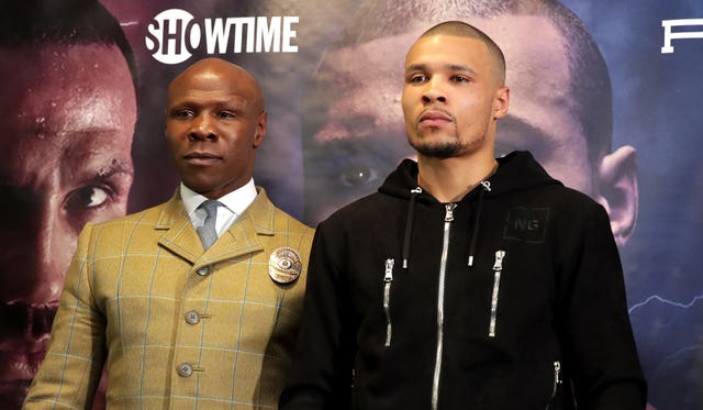 Chris Eubank Sr, left, think his son has the physical edge (Adam Davy/PA)