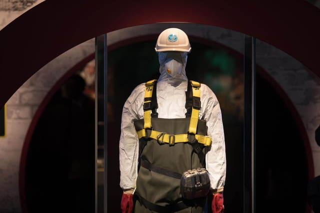 A Hazmat Suit on display at the Museum of London (David Parry/PA)