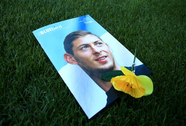 A Cardiff City match programme paying tribute to Emiliano Sala (Mark Kerton/PA Wire)