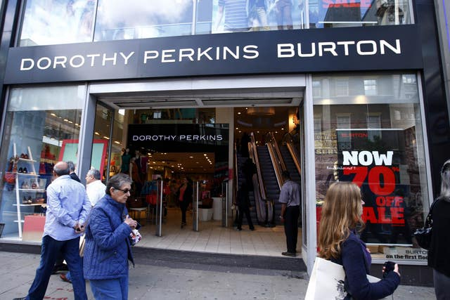 Dorothy Perkins and Burton stores are earmarked for closure