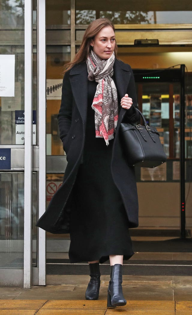Tatiana Mountbatten leaves Lavender Hill Magistrates' Court in Battersea, London (Andrews Matthews/PA)