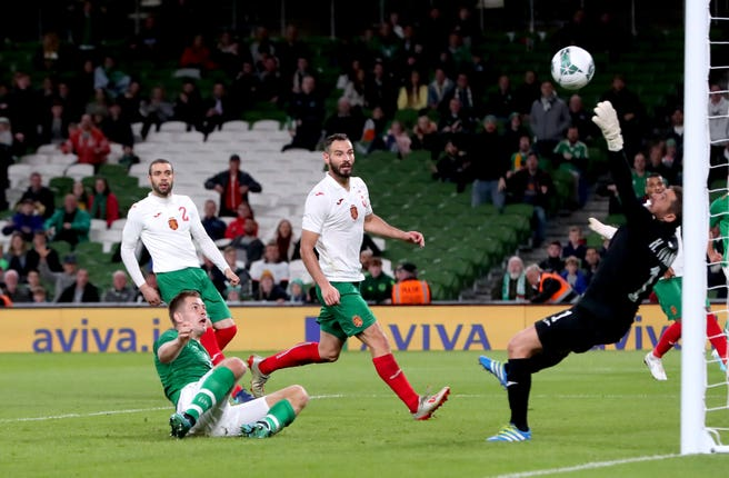 James Collins scores his first goal for the Republic of Ireland